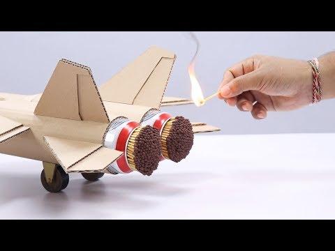 マッチ燃料の段ボールジェット機で空は飛べるか??