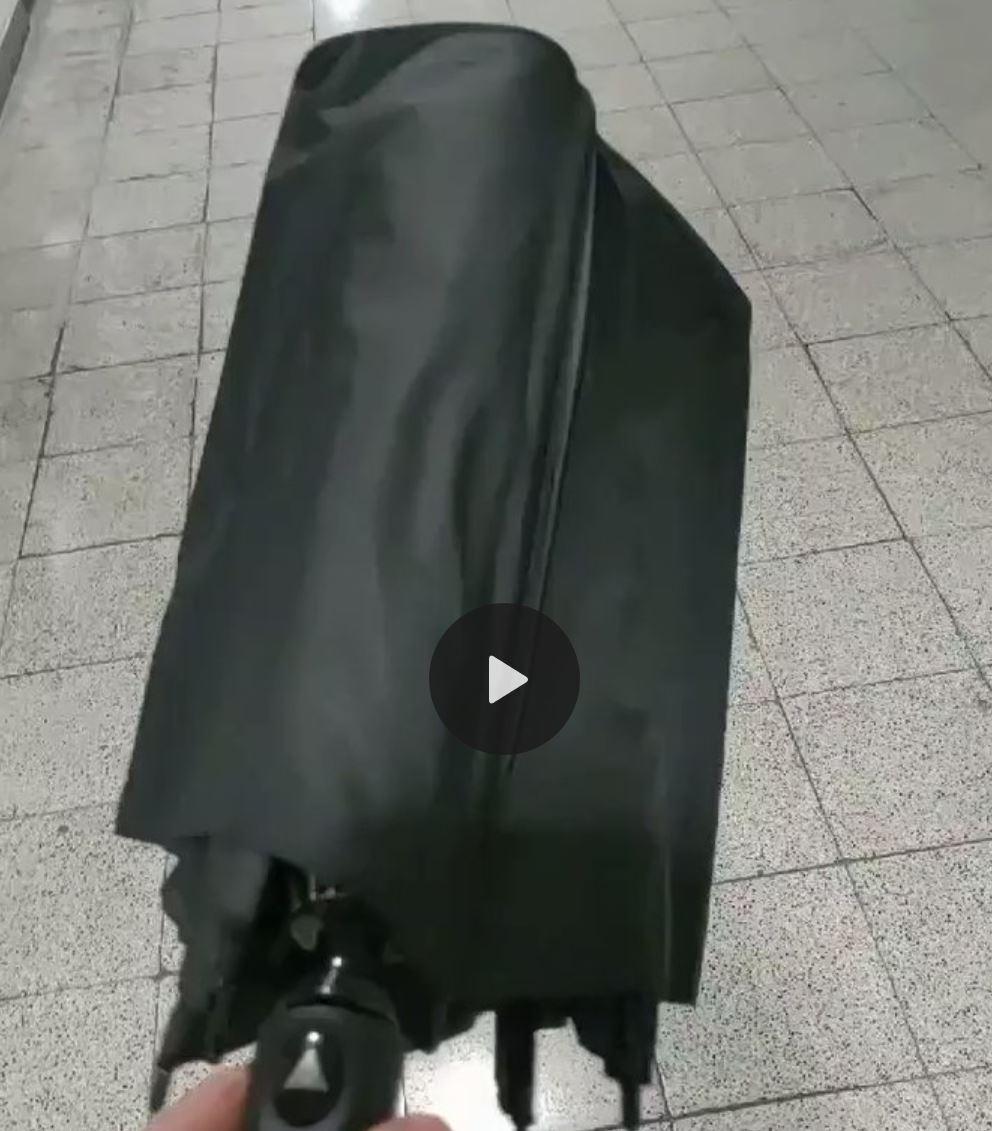 折りたたみ傘の壊れ方が芸術的