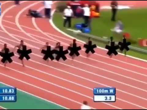 イランのテレビで女子陸上競技を放映している様子をご覧ください
