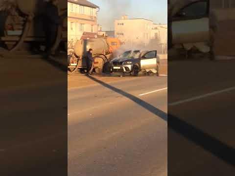 車両火災発生!偶然通りかかった ある車両に助けてもらう