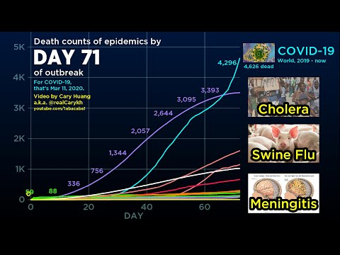 驚愕!2000年代に流行した感染症と新型コロナの死者数推移比較