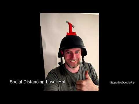 バカ売れの予感w 社会的距離レーザーヘルメット