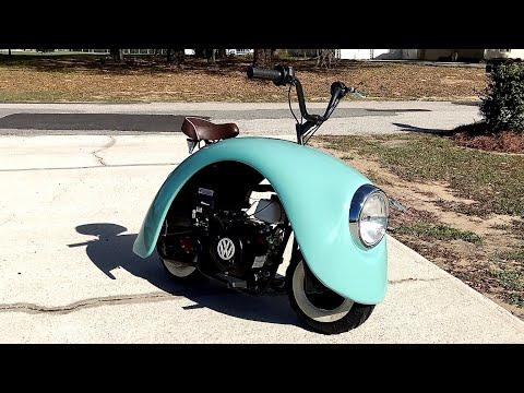 フォルクスワーゲンの廃材を使ってミニバイクを自作してみた