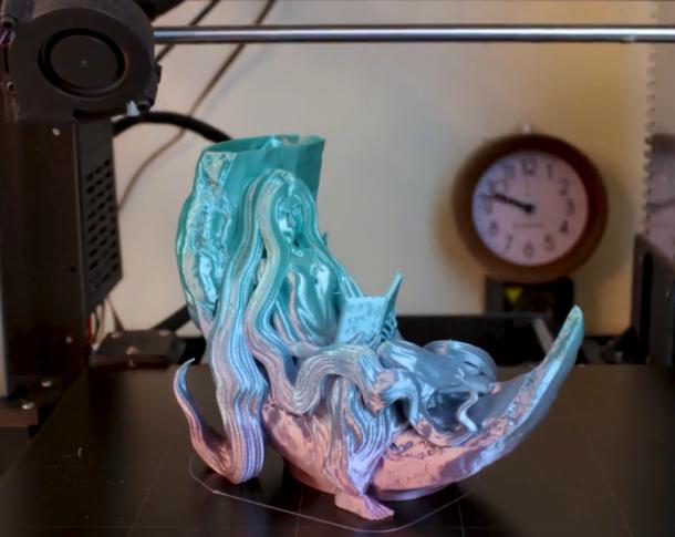 3Dプリンタ・タイムラプス