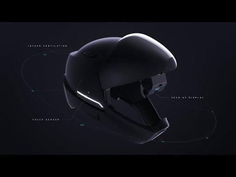 視界360度のHUDヘルメット、クラウドファンディングに登場!