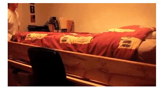 ベッドから仕事場にトランスフォーム